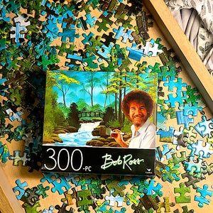 Bob Ross Puzzle 300 Words Bridge Landscape